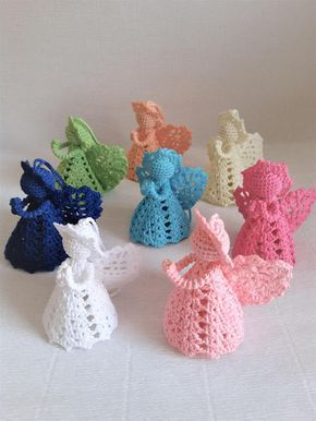 Crochet Angel Christmas Angel Baptism gift Lace Angel ornament Knitting Angel Tree decoration Home decor Wedding gift religious gift Are you ready to get into the Christmas spirit? This unusual Abgels are perfect for your Christmas tree, for the children's room, for your office or