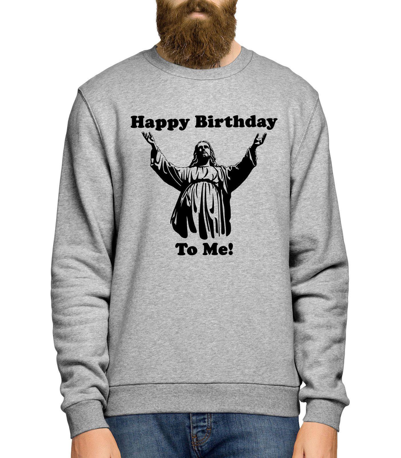 Happy Birthday To Me Christmas Sweater Funny Jesus Xmas Jumper Top ...