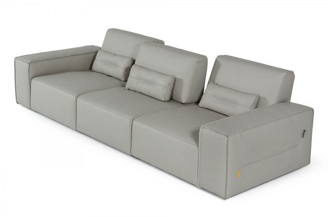 Accenti Italia Enjoy Italian Modern Grey White Leather Sofa In 2020 White Leather Sofas Leather Sofa Sofa