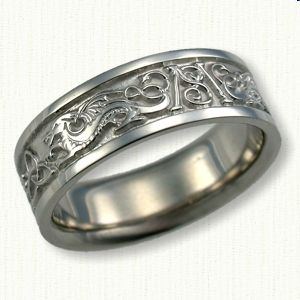 Celtic Dragon Knot Wedding Rings custom celtic wedding rings
