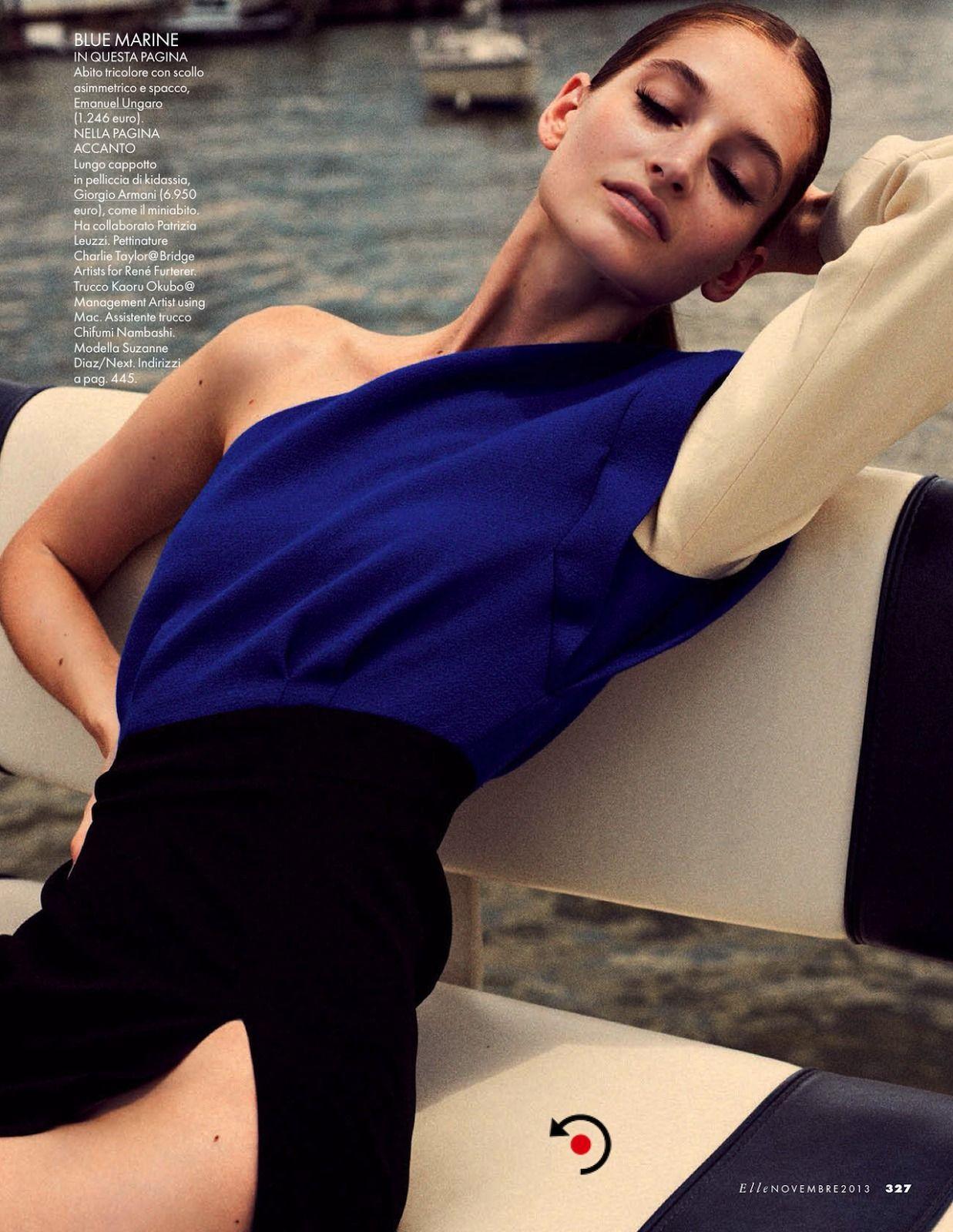 classicmodels:  Suzanne Diaz By Cedric Buchet For Elle Italia