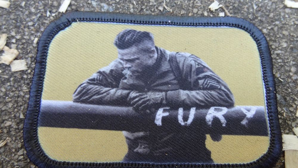 Fury Movie Morale Patch Tactical Military Tactical Army Flag USA Hook Badge
