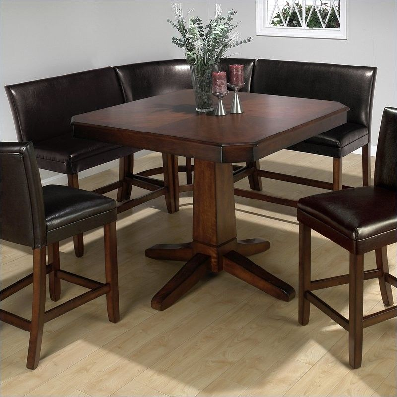 Jofran Chadwick Counter Height Table With Corner Bench And 2 Side Chairs
