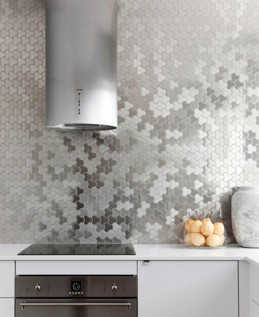 Kitchen Color Ideas Freshome Modern Kitchen Tiles Metallic Tiles Kitchen Modern Kitchen Tile Floor