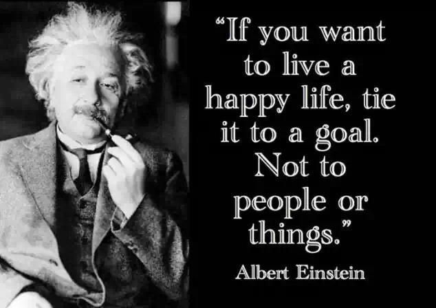 Einstein Quote On A Happy Life Reading Is Hard Pinterest