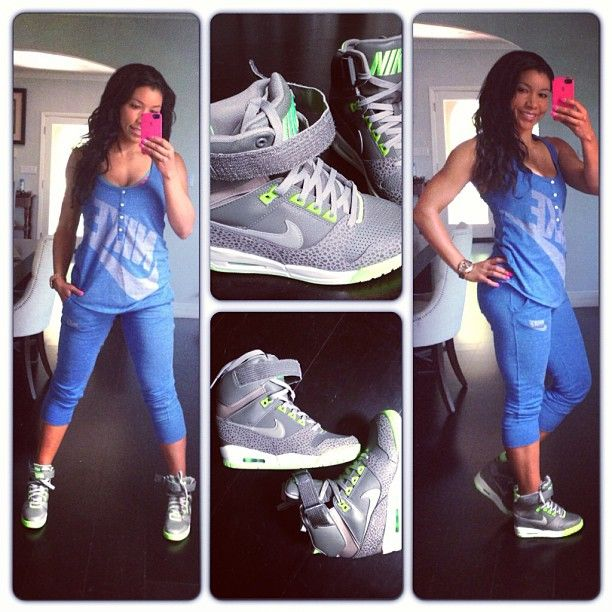 promo code f3ef4 0cad1 Nike Air Revolution Sky Hi - Jeanette Jenkins  The Hollywood Trainer