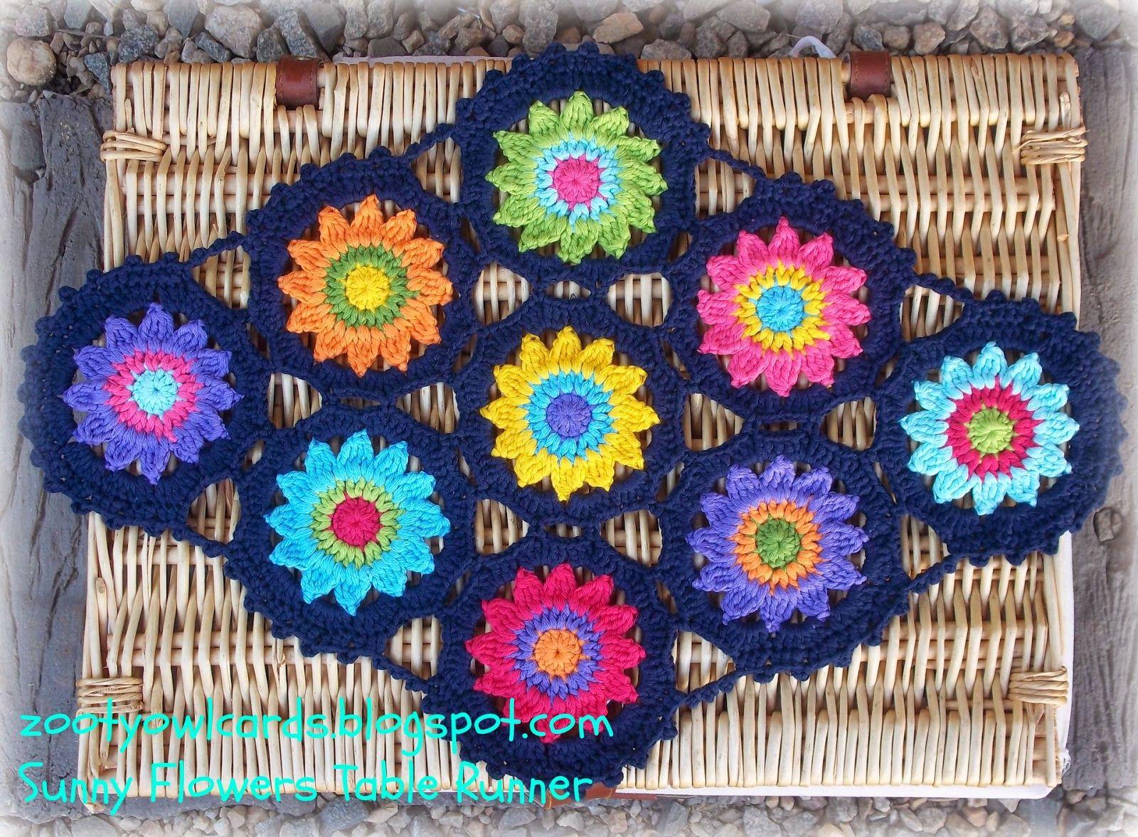 Zooty owls crafty blog sunny flower motif table runner free zooty owls crafty blog sunny flower motif table runner free pattern bankloansurffo Choice Image