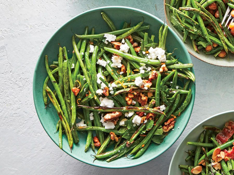 Feta-and-Walnut Blistered Green Beans Recipe - Cooking Light