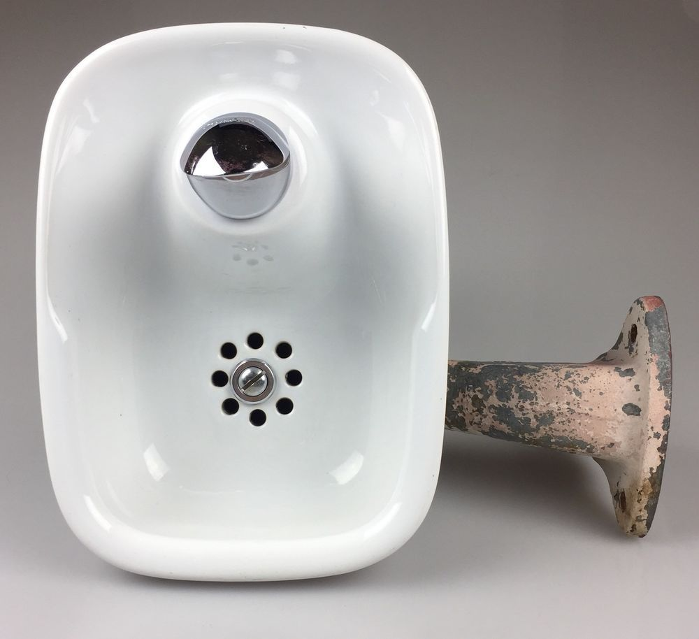 Vintage Crane Thurstend Purflo Porcelain Water Drinking Fountain School Bubbler Drinking Fountain Bubbler Drinking Water