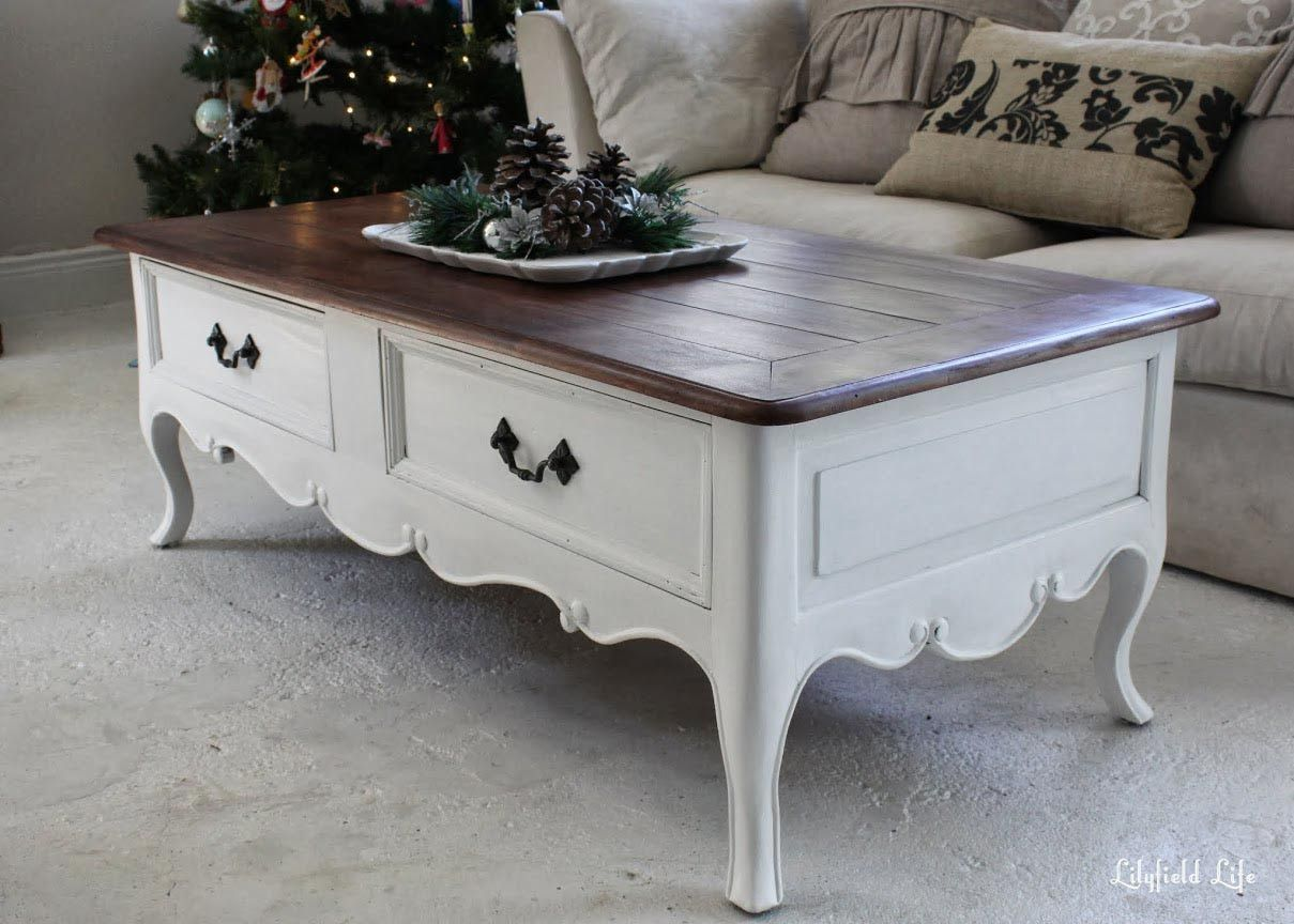 painted coffee tables before and after