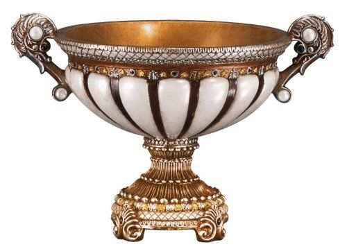 "Antique Decorative Bowls $5983  $1300 Shipping 15"" Wide Antique Bronze Gold Finish"