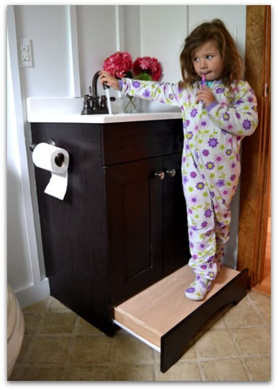 Vanity Drawer Step Stool From Ana White Such A Great Use