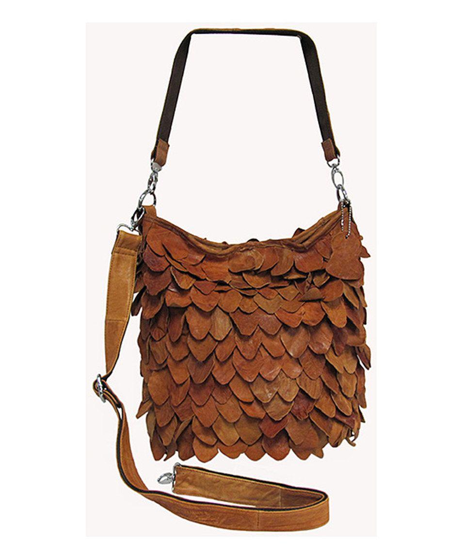 b95d59ae9fd Brown Junior Hawk Leather Crossbody Bag   ❖Amerileather ...