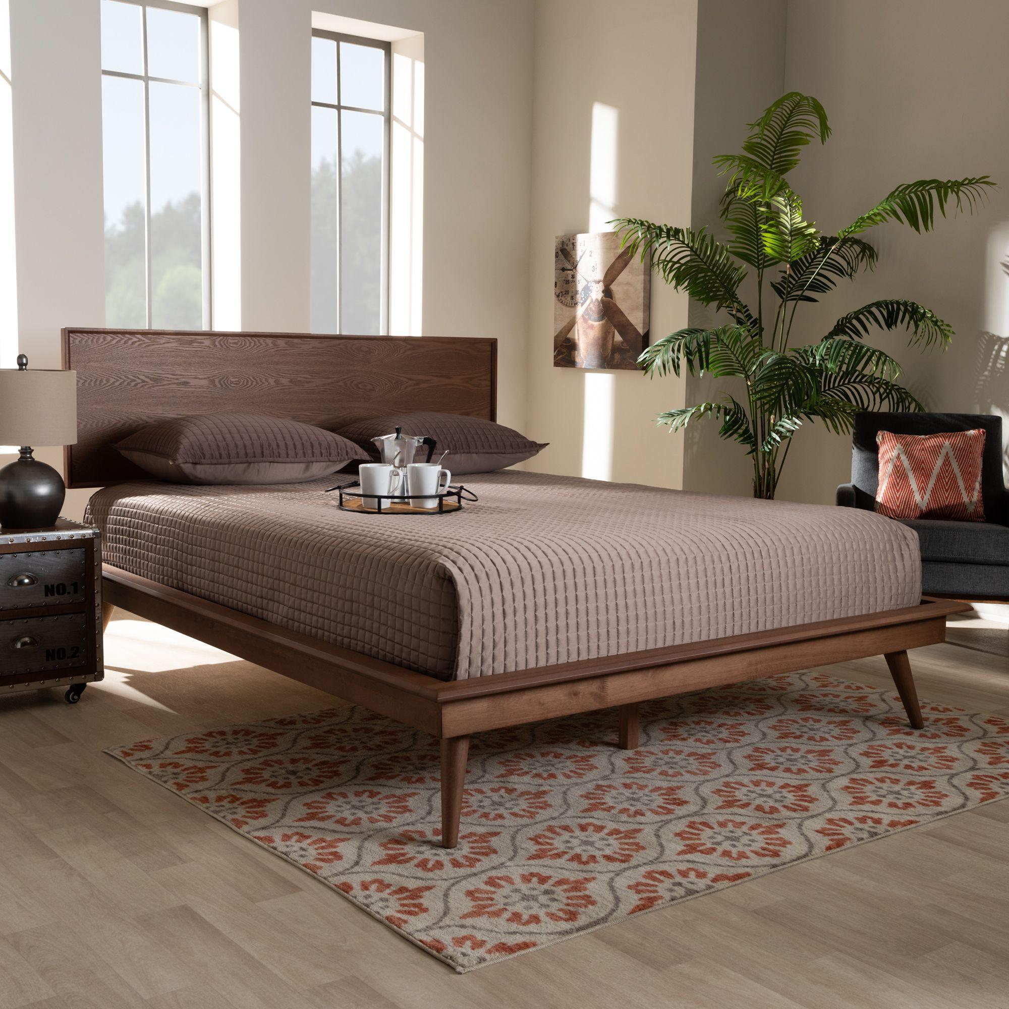 Best Baxton Studio Karine Mid Century Modern Walnut Brown 400 x 300