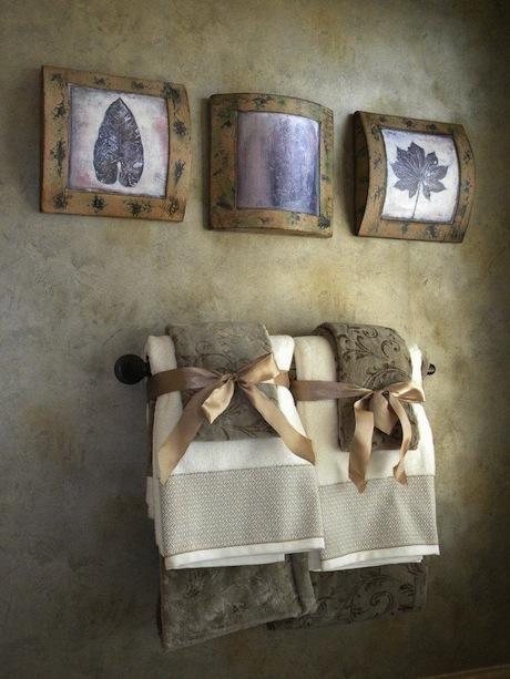 C mo decorar las toallas de ba o para los invitados - Como decorar banos pequenos ...