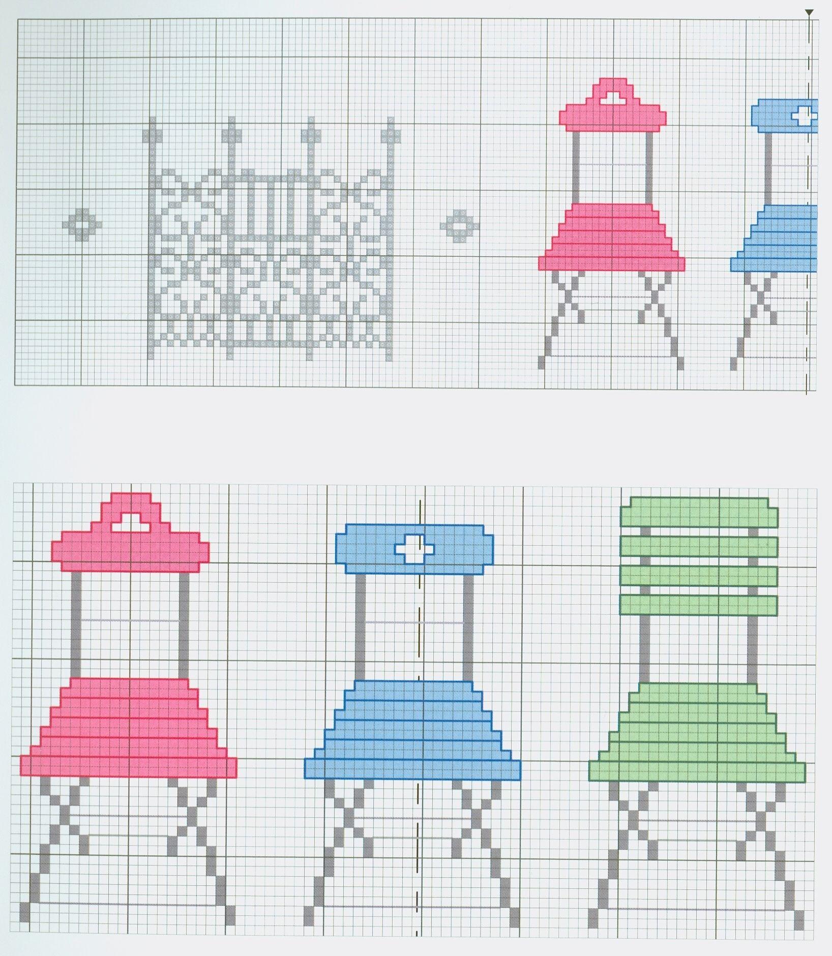 Cute chairs (part 1) free cross stitch pattern from www.coatscraft ...