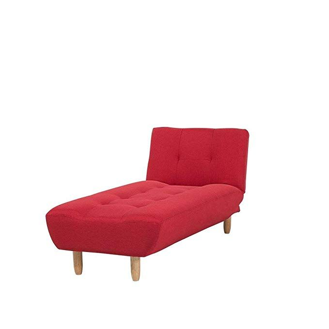 Astonishing Modern Chaise Lounge Bed Chair Recliner Single Sleeper Red Gmtry Best Dining Table And Chair Ideas Images Gmtryco