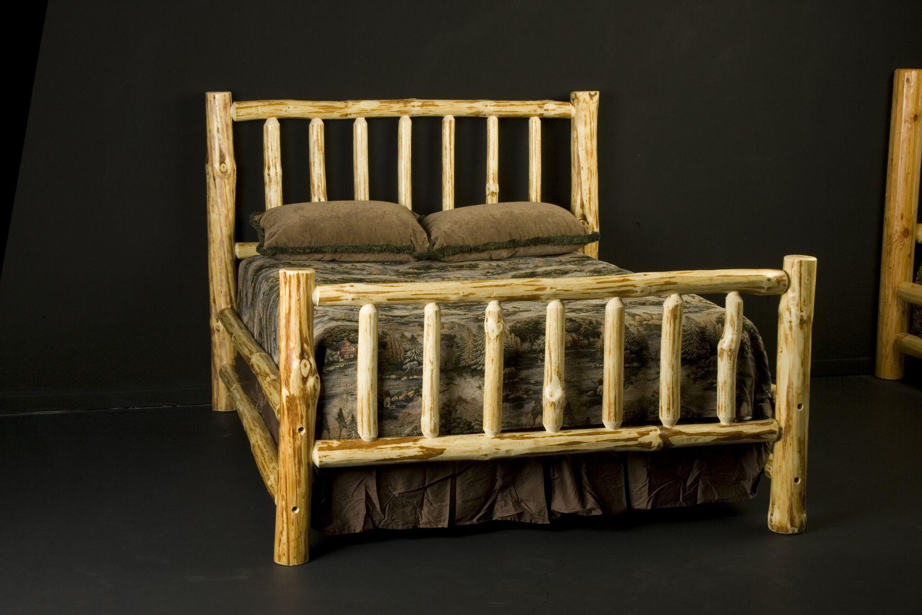 Custom Made Wilderness Log Bed Frame Log bed frame, Log