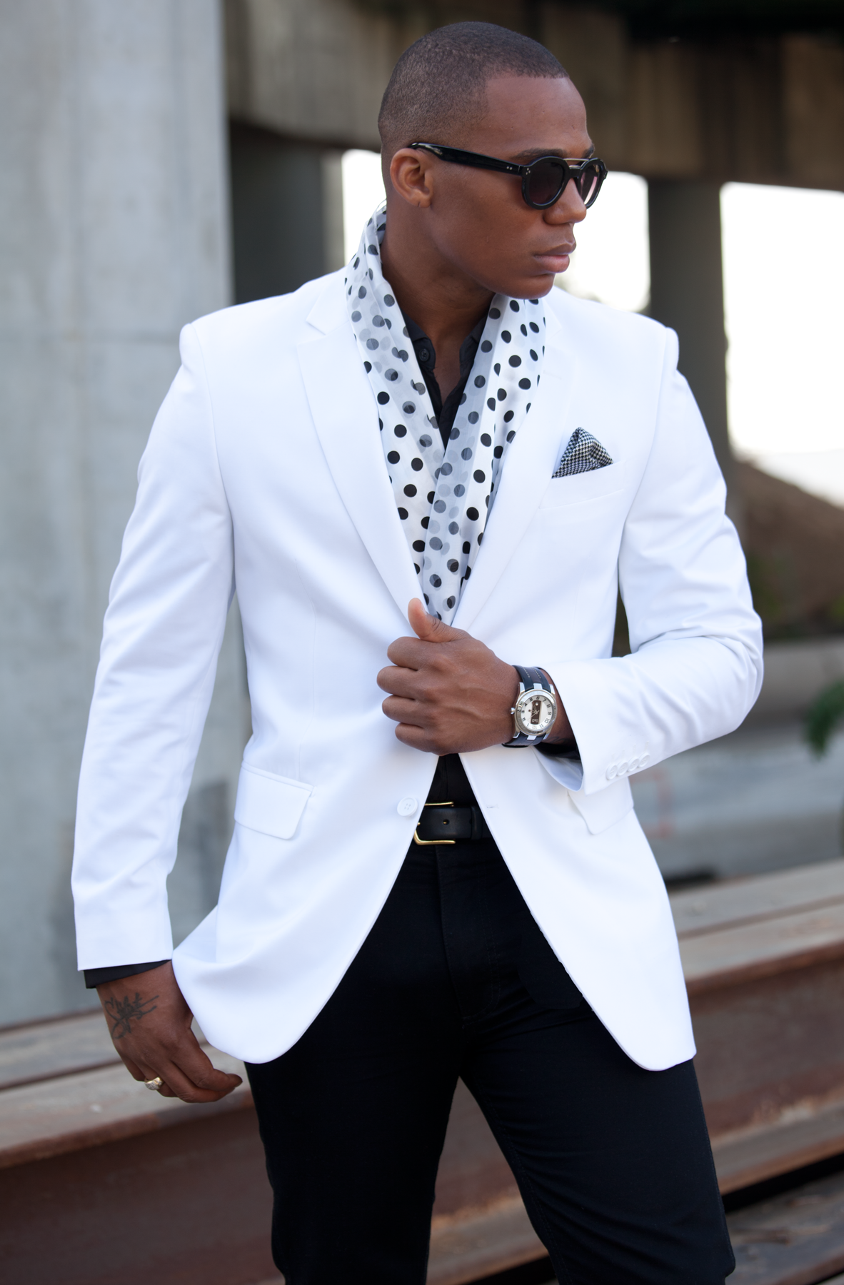 Dejon marquise the stylist black white party for White shirt outfit mens