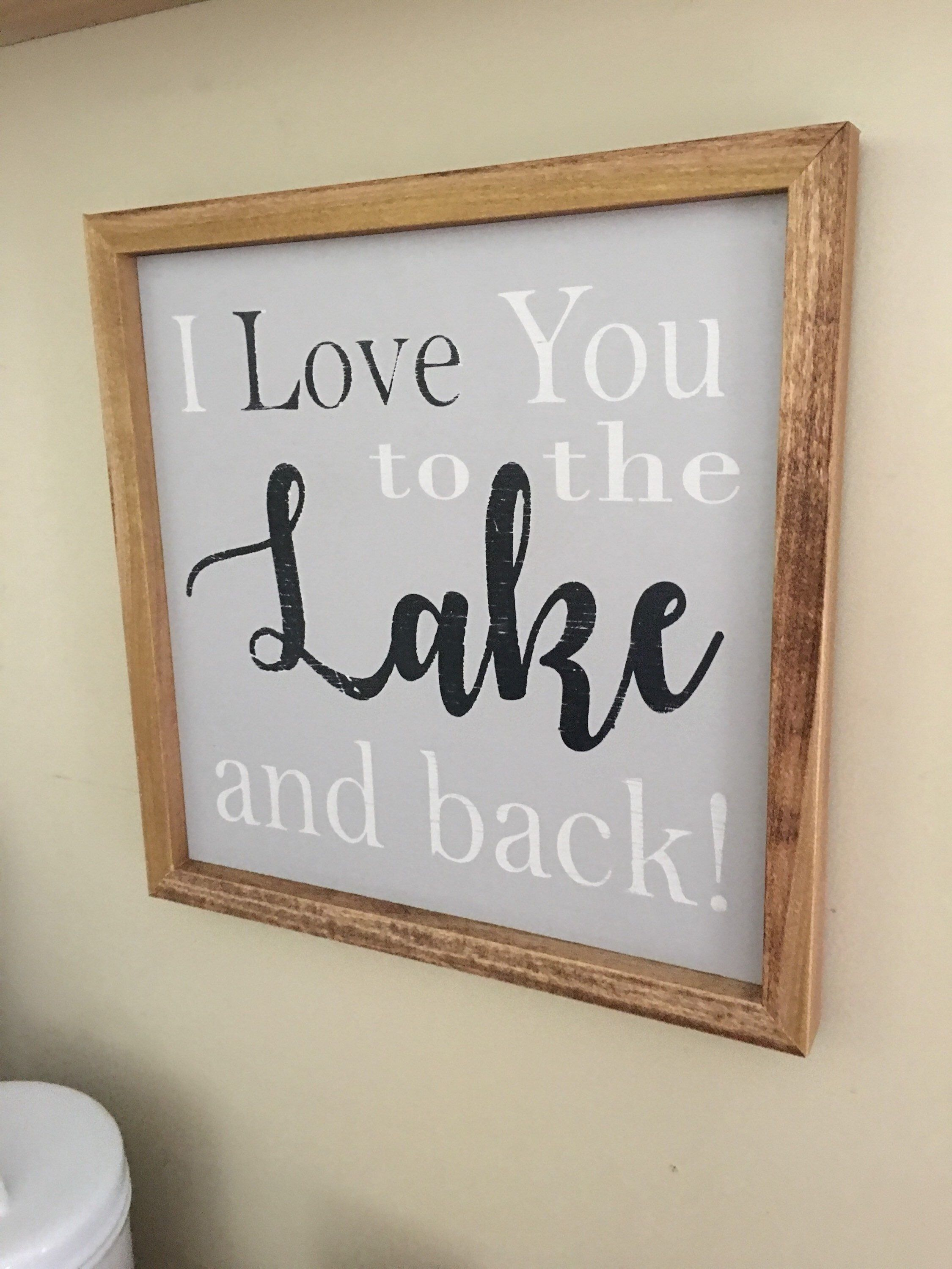 Excited to share this item from my etsy shop lake sign