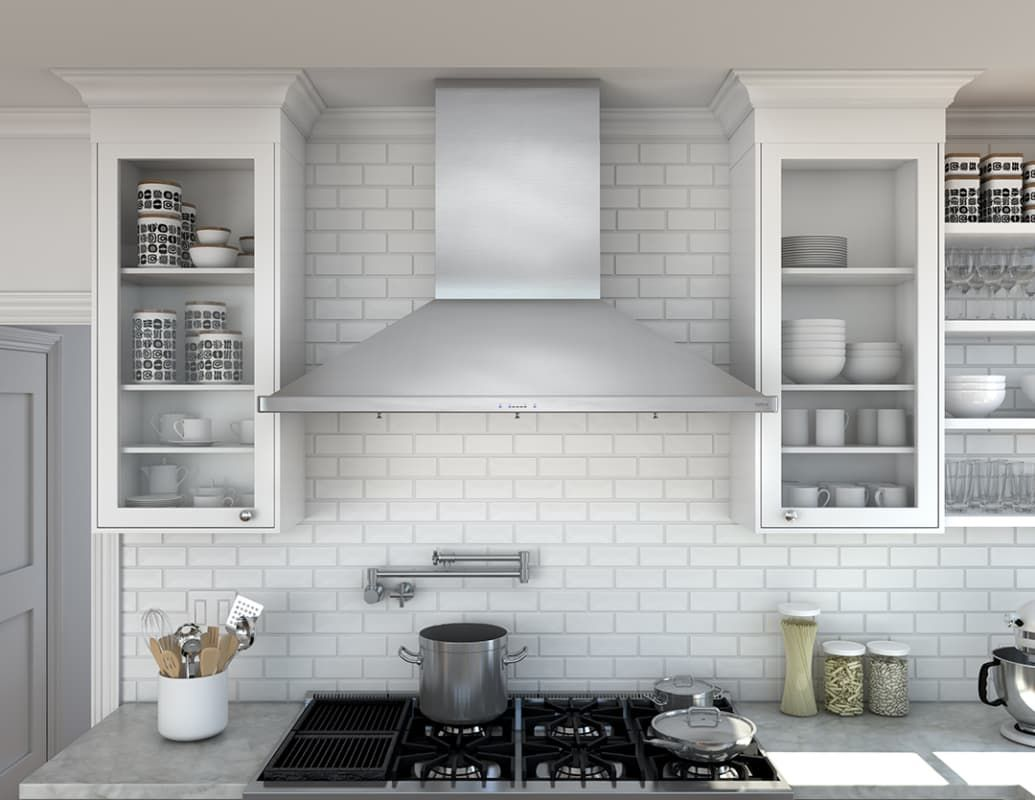 Broan E6048tss Stainless Steel 1200 Cfm 48 Wide Stainless Steel Wall Mounted Range Hood With Heat Sentry And Dual Centrifugal Blower From The High Performance Broan Range Hood Stainless Steel Range Hood