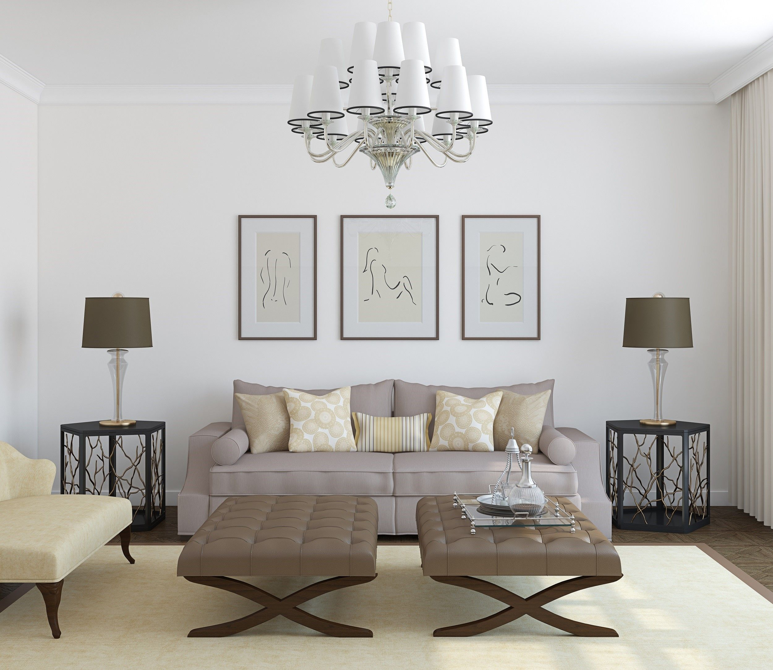 We love this symmetrical style #interiordesign