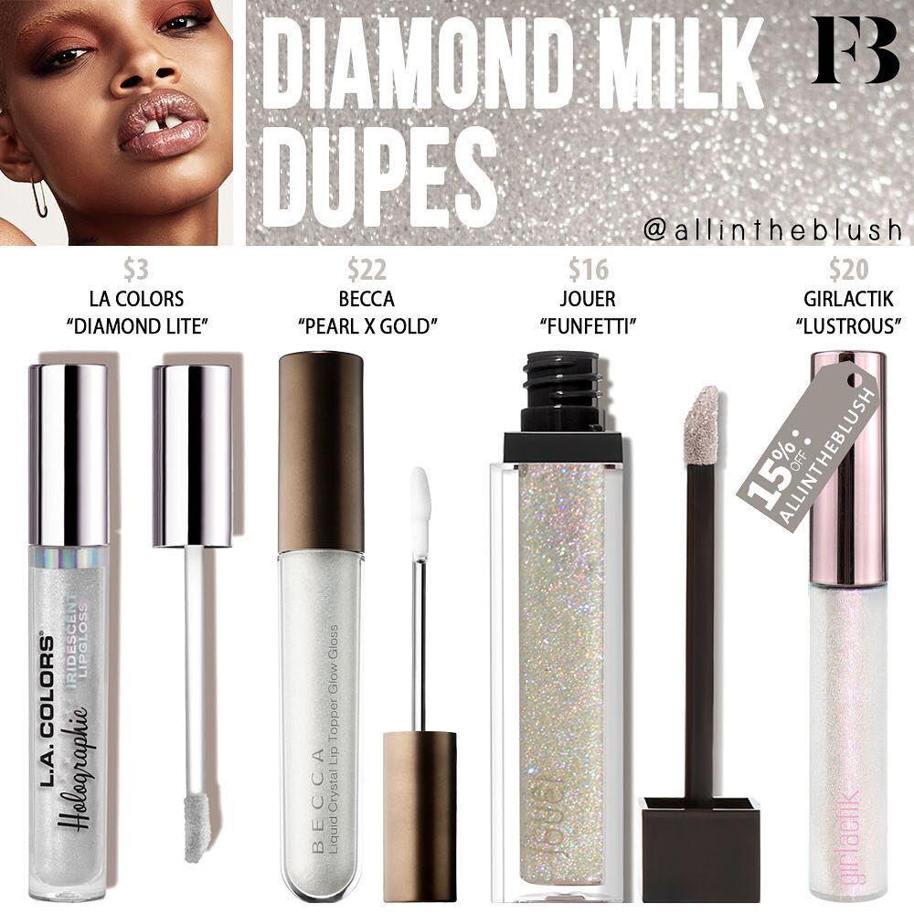 DIAMOND MILK DUPES PART II🍼💎 from Fenty Beauty Makeup dupes