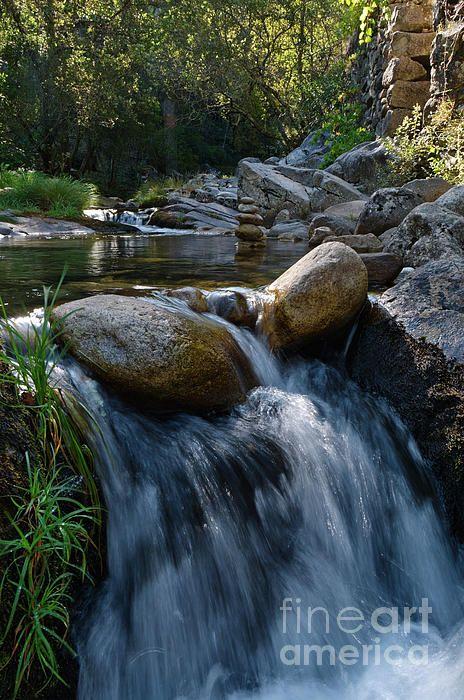 Waterfall In Rio Da Gralheira #prints #printsforsale