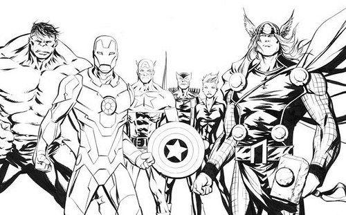 Imágenes de Avengers para Colorear: Dibujos de los Vengadores para ...