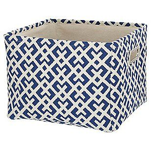 Rectangle 11x10 Lattice Storage Basket   Navy