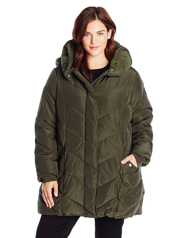Steve Madden Women S Plus Size Packable Puffer Jacket With Hood Review More Details Here Plus Size Coats Parka Coat Women Plus Size Fashion [ 1500 x 1154 Pixel ]