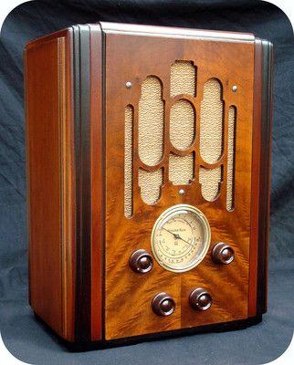 ATWATER KENT 856 TOMBSTONE RADIO ANTIQUE ART DECO AM TUBE WOOD TABLE RetroDudes