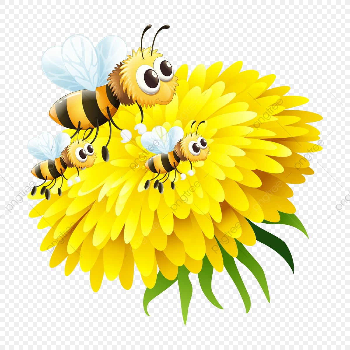 Bee In Flower Bee Flower Png Transparent Clipart Image And Psd File For Free Download Flower Illustration Bee On Flower Flower Clipart