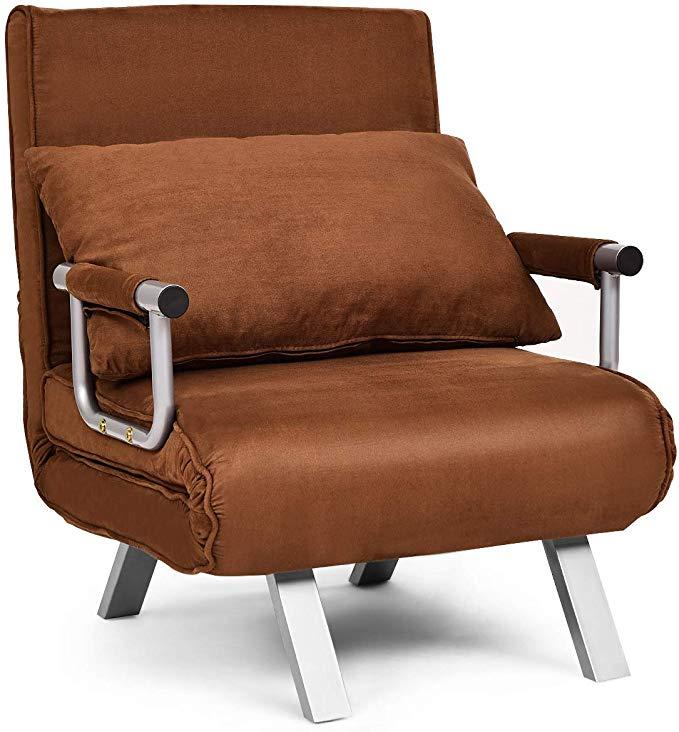 Giantex Convertible Sofa Bed Folding Arm Chair