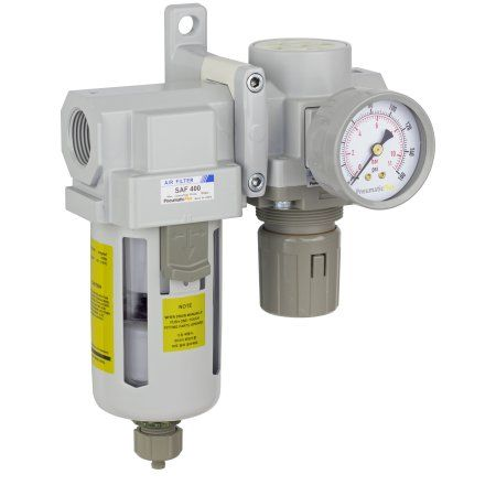Pneumaticplus Sau420 N06g Compressed Air Filter Regulator Combo 3 4 Inch Npt Poly Bowl Manual Drain Bracket Gauge Products