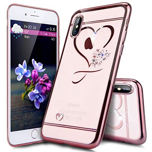 coque iphone xs transparente paillette