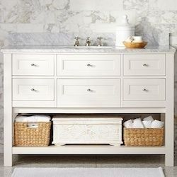 5 Bathroom Vanities Like Pottery Barn S Classic Console Single Sink Vanity Vanity Sink Shabby Chic Bathroom