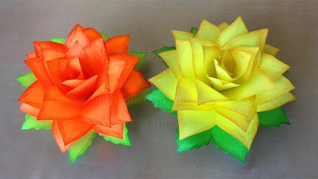 faire une rose en papier fleur en papier bricolage. Black Bedroom Furniture Sets. Home Design Ideas
