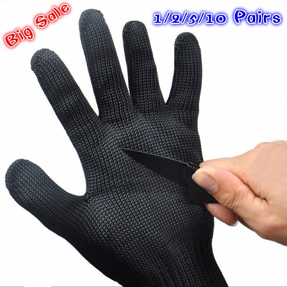 1/2/5/10 Pairs Schutzhandschuhe Schützen Edelstahl Draht Handschuhe ...