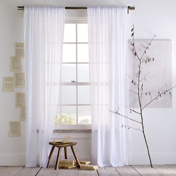 Ordinaire White Living Room Curtains