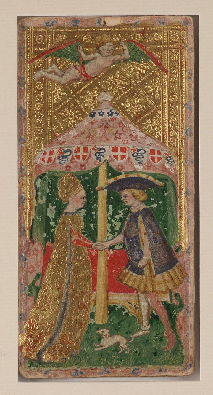 the lovers tarot card tapestry