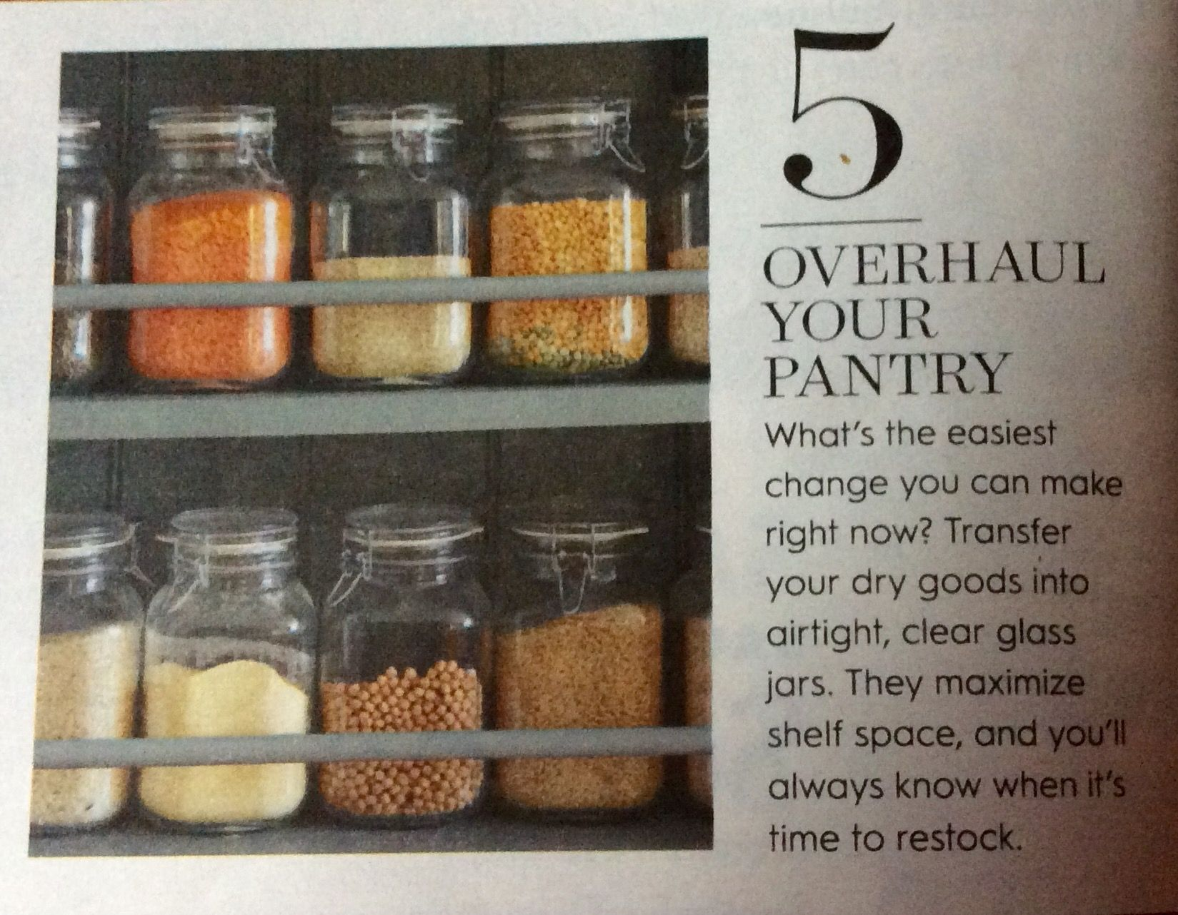 Kitchen Pantry, Glass Jar Storage