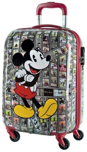 a6053bd089 Disney Mickey Mouse Vintage Fumetto Topolino Trolley Valige Rigide Bagaglio  a Mano,55 cm, - Mickey Comics Hand Luggage