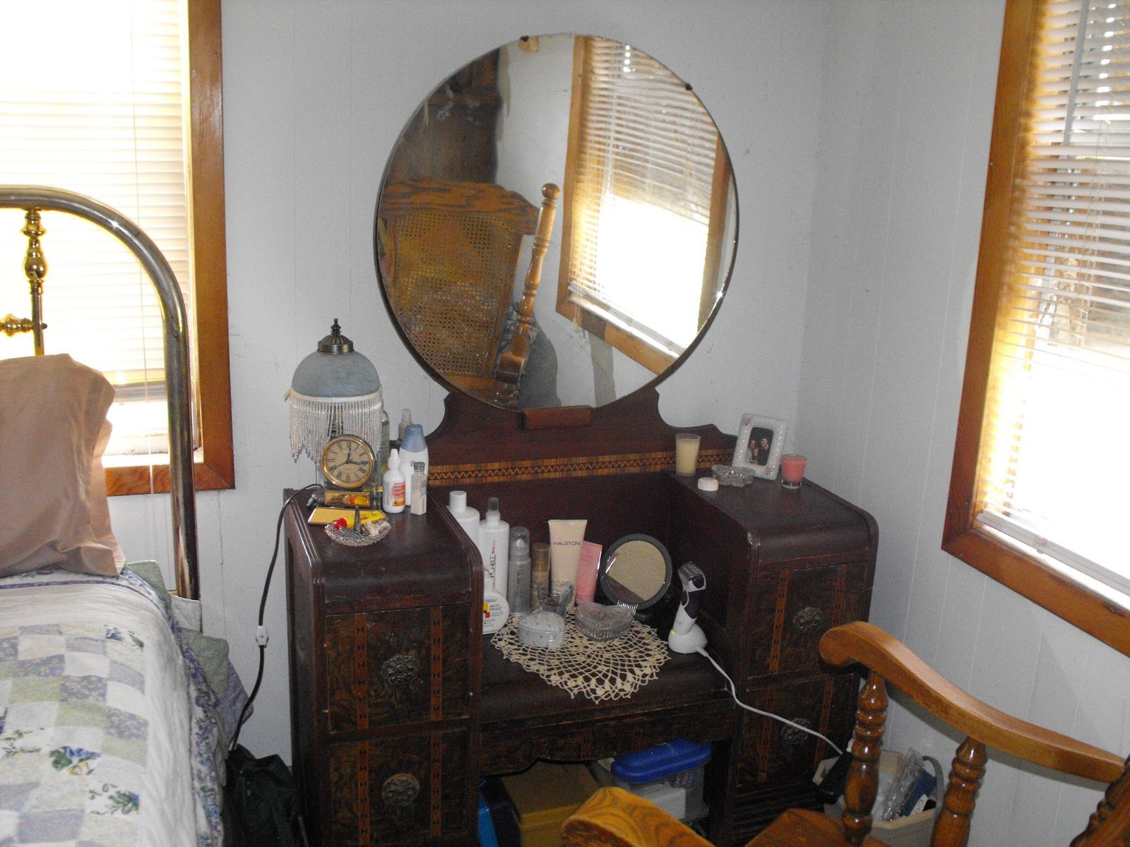 100 year old antique makeup vanity Vintage Thingie