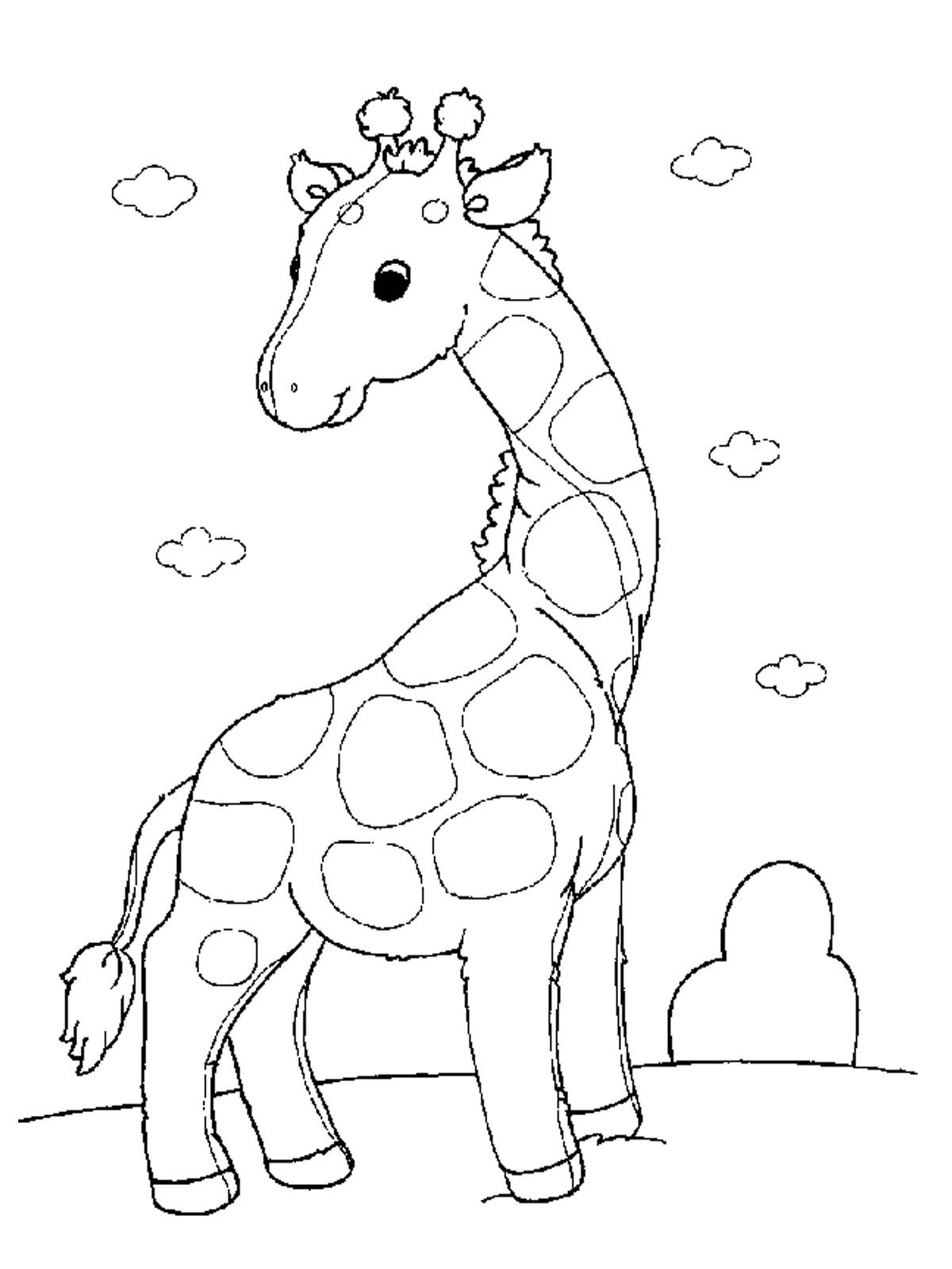 Printable Giraffe Coloring Book For Kids K5 Worksheets Giraffe Coloring Pages Giraffe Colors Puppy Coloring Pages [ 1600 x 1200 Pixel ]