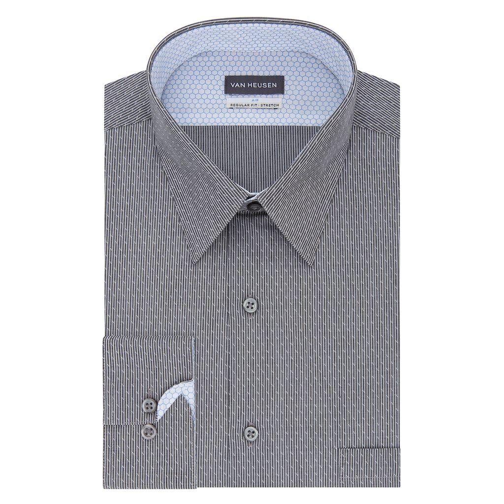 Men S Van Heusen Air Stretch Fitted Point Collar Dress Shirt Size