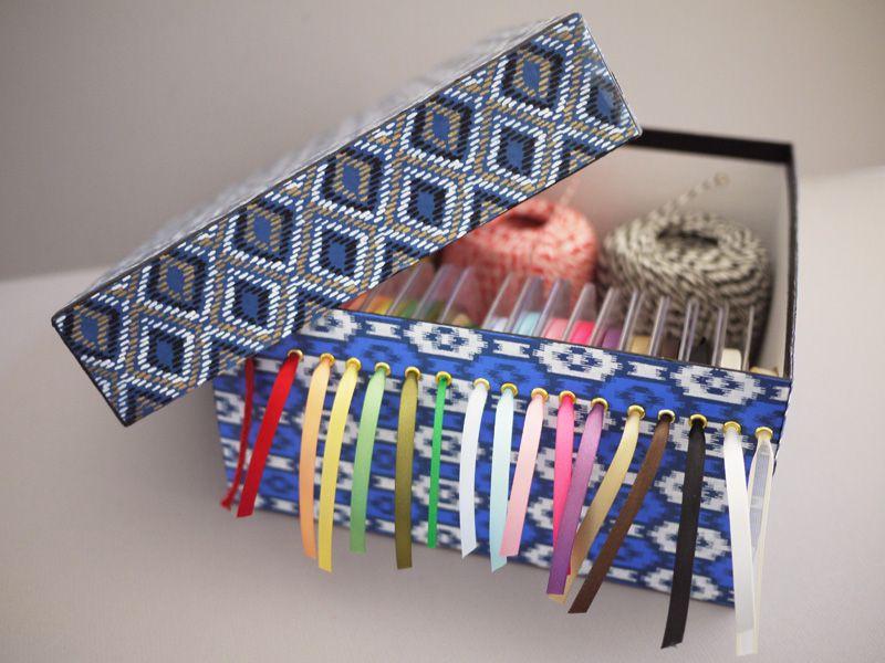 Diy Ribbon Storage Box Ribbon Storage Diy Ribbon Shoe Box Diy