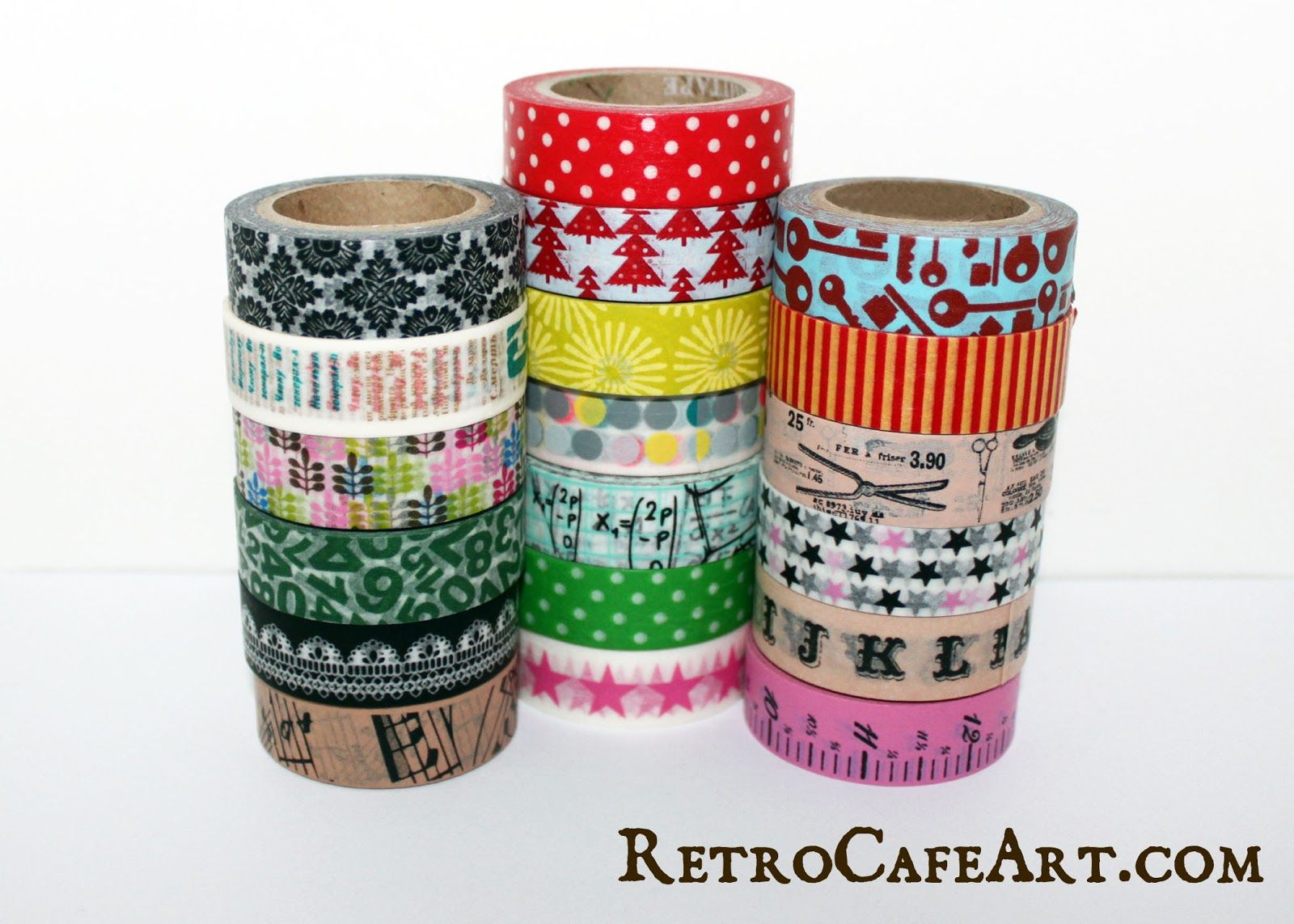 New Washi Tape and a SALE at www.retrocafeart.com