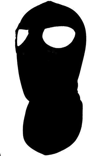 Black 2 Eye Hole Cotton Balaclava Full Hood Face Mask Helmet Liner ...