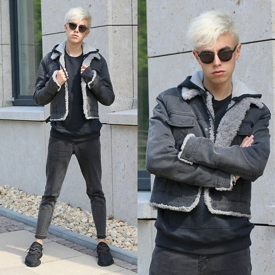 Get this look: http://lb.nu/look/8222427  More looks by Emil D: http://lb.nu/emil_drn  Items in this look:  Ace & Tate Sunglasses, Maison Martin Margiela Hoodie, Calvin Klein Jacket, Zara Jeans, Yeezy Shoes   #classic #edgy #elegant #jeans #denim #look #style #outift #fashion